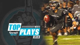 HS Football | Storied Rivals' Top Plays - Week 5, 2016