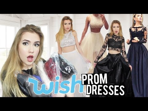 TRYING ON WISH PROM DRESSES!! *Success & Fails*