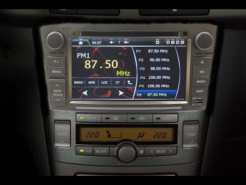 Штатная магнитола Toyota Avensis (2003-2008) Windows FT-1030M(S)