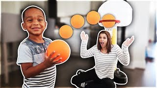 The Best 3 Year Old Basketball Player vs Mom | DJ's Clubhouse