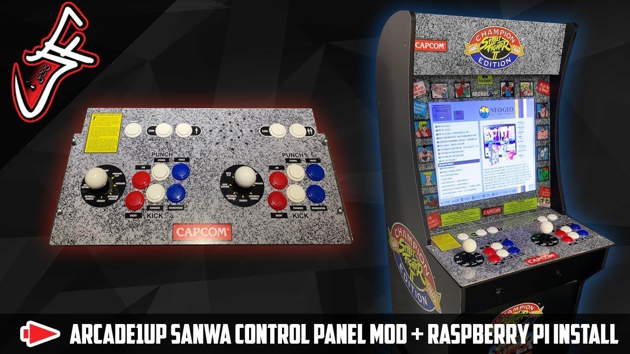 Arcade1UP Sanwa Control Panel Mod + Raspberry Pi Install