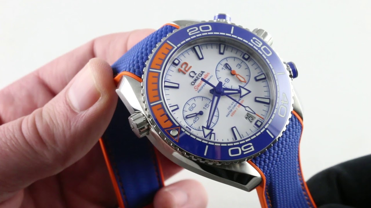 Omega Seamaster Planet Ocean Michael Phelps Limited Edition  215.32.46.51.04.001 Luxury Watch Review 3a93e248b5