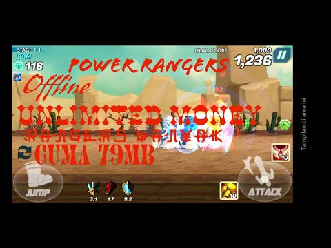 Power Rangers Dash Mod APK Unlimited Money