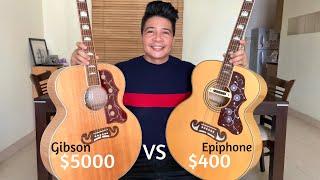 Gibson J200 vs Epiphone EJ200 | Expensive vs Cheap | Sound Comparison