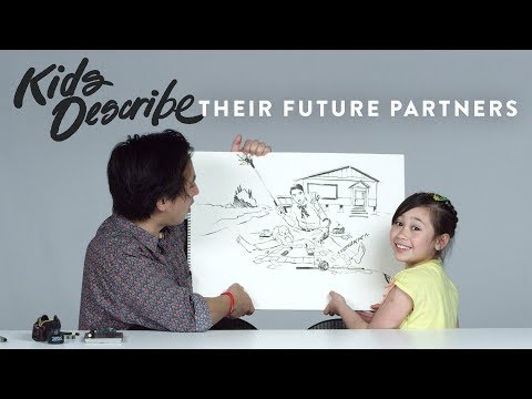 Kids Describe Their Future Partners to Koji the Illustrator | Kids Describe | HiHo Kids
