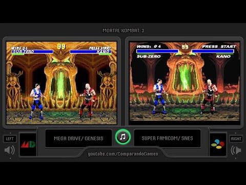 Mortal Kombat 3 (Sega Genesis vs Snes) Side by Side Comparison | Vc Decide thumbnail