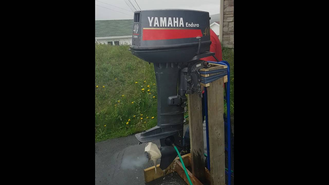 1997 40 Hp Yamaha Enduro Start Up Youtube