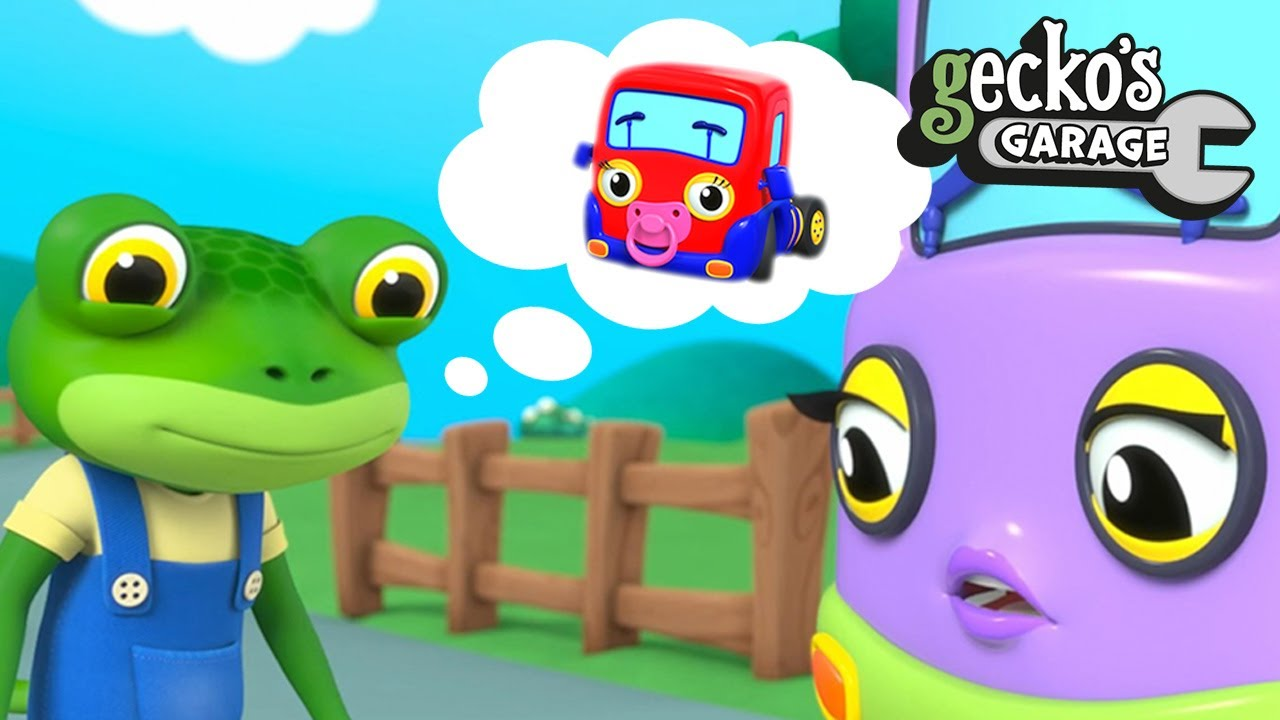 Baby Truck Runs Away - Where Is She?|Gecko's Garage|Funny Cartoon For Kids|Videos For Toddlers