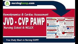 What are Hemodynamic CVP JVD JVP PAWP Wedge Nursing ICU NCLEX Nursing KAMP   2019