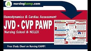 What are Hemodynamic CVP JVD JVP PAWP Wedge Nursing ICU NCLEX Nursing KAMP   2019