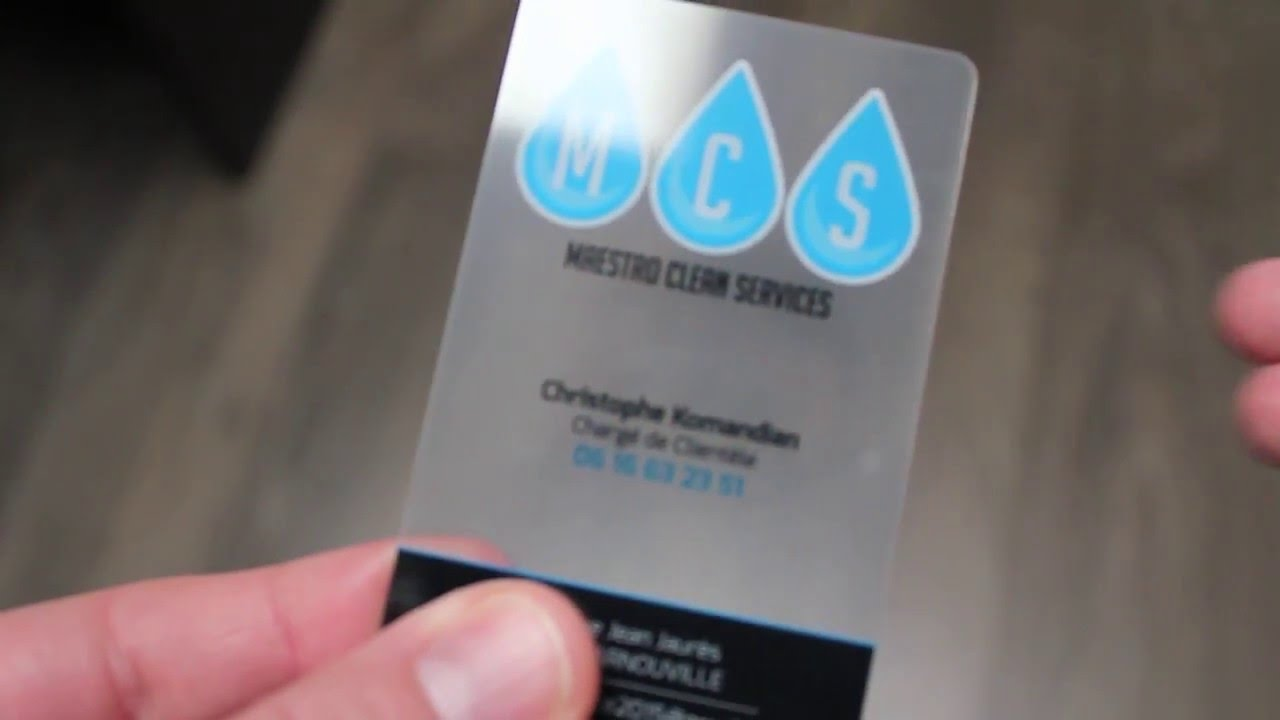 Cartes De Visite Transparentes Par Cartesprestige
