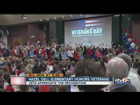 Hazel Dell Elementary students honor service on Veterans Day