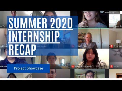 2020 SUMMER INTERNSHIP: Projects Showcase