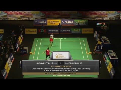 Victor Far East Malaysia Masters 2016 | Badminton SF M1-WS | Sung Ji Hyun vs P.V Sindhu