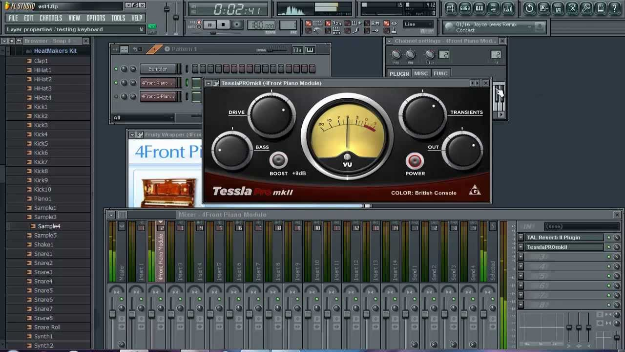Free Vst Plugins Review    Tessla Pro MkII, Tal Reverb 2, 4front Piano