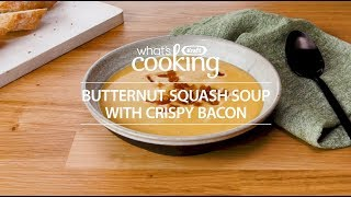 Butternut Squash Soup with Crispy Bacon