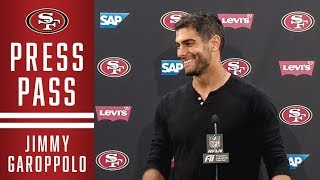 jimmy garoppolo on win vs steelers 49ers