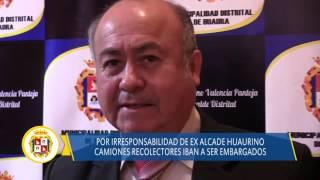 09 17 DISTRITO DE HUAURA camiones recolectores de residuos embargados por ex autoridad huaurina