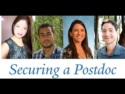 YCA2016: Conversations with Scientists - Securing a Postdoc