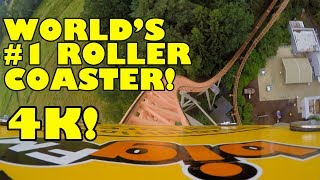 World's #1 Roller Coaster! Expedition GeForce! 4K Front Seat POV AWESOME! Holiday Park Germany