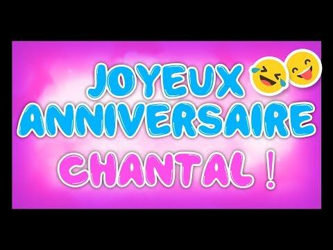 Carte Bonne Fete Chantal.Joyeux Anniversaire Chantal Happy Birthday