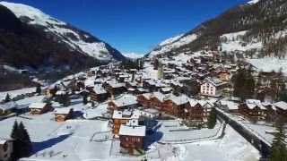 Stunning 4k drone views of the Val d'Hérens valley in Winter (Valais, Switzerland)