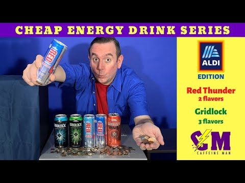 Cheap Energy Drink Series - Aldi Edition: Red Thunder Energy Drink & Gridlock Energy Drink Review