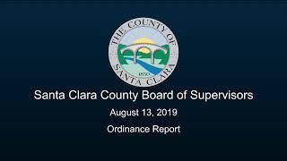 Santa Clara County Board Of Supervisors August 13, 2019 9:30 Am