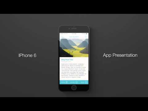 after effects template - iphone 6 flat app presentation - youtube, Powerpoint templates