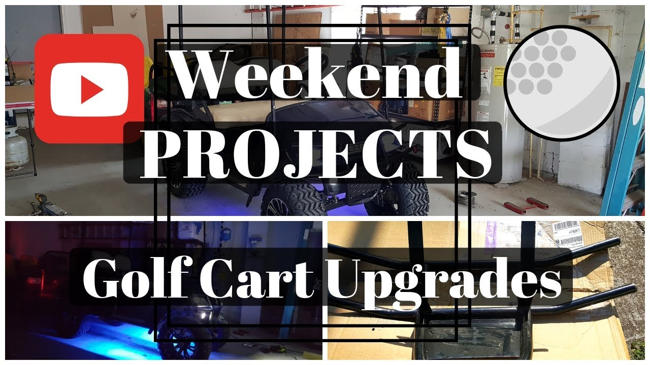 Weekend Project - Golf Cart Upgrades - YouTube on golf cart dash kits, golf cart canopies, golf cart hoods, golf cart hot dog stand, golf cart shelves, golf cart rims, golf cart gas tanks, golf cart smoker, golf cart bumpers, golf cart fans, golf cart flag mounts, golf cart decals and graphics, golf cart sun shades, golf cart handles, golf cart stripe kits, golf cart hard tops, golf cart dashboard, golf cart lift kits, golf cart mag wheels, golf cart cowls,