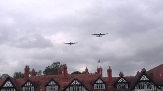 2 Lancasters over The Petwood Hotel 14 September 2014