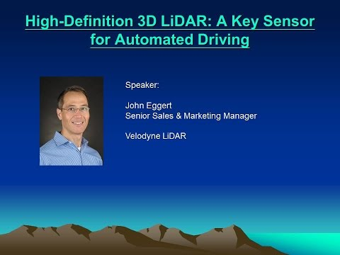 High Definition 3D LiDAR   John Eggert