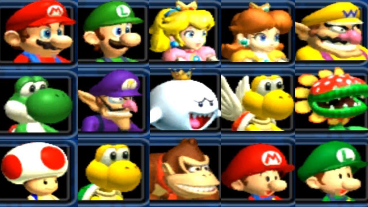 Mario Kart Double Dash All Characters Youtube