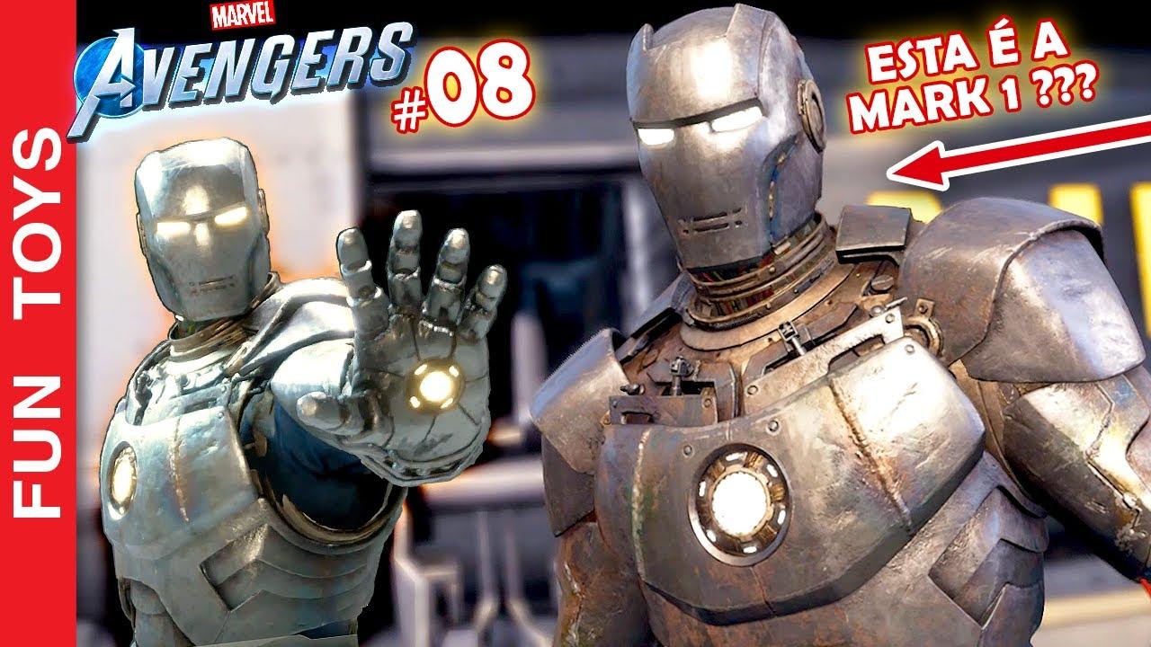 """Marvel's Avengers  #08 - Finalmente jogando com o IRON MAN de """"ARMADURA""""! Será que esta é a Mark 1?"""