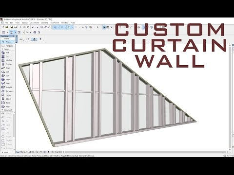 Custom Curtain Wall ArchiCAD