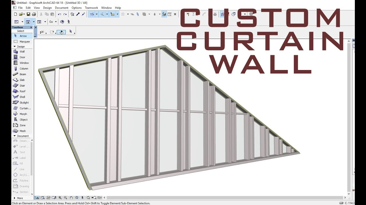 Custom Curtain Wall Archicad Youtube