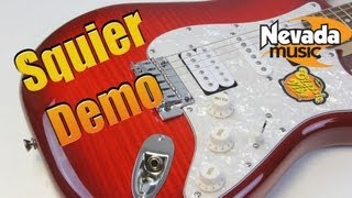 Squier Deluxe Stratocaster HSH Crimson Trans Red Demo