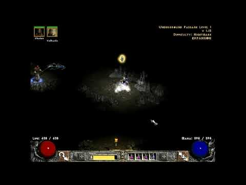 Diablo 2 Hardcore Hell Run 7 ( Amazon ), Part 3 ( Act 1 & 4 Nightmare )