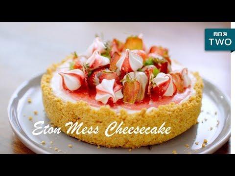 Eton Mess Cheesecake | Nadiya's British Food Adventure: Episode 1 - BBC Two