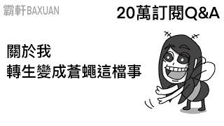 關於我轉生變成蒼蠅這檔事|20萬訂閱Q&A|霸軒與小美 Baxuan & Mei