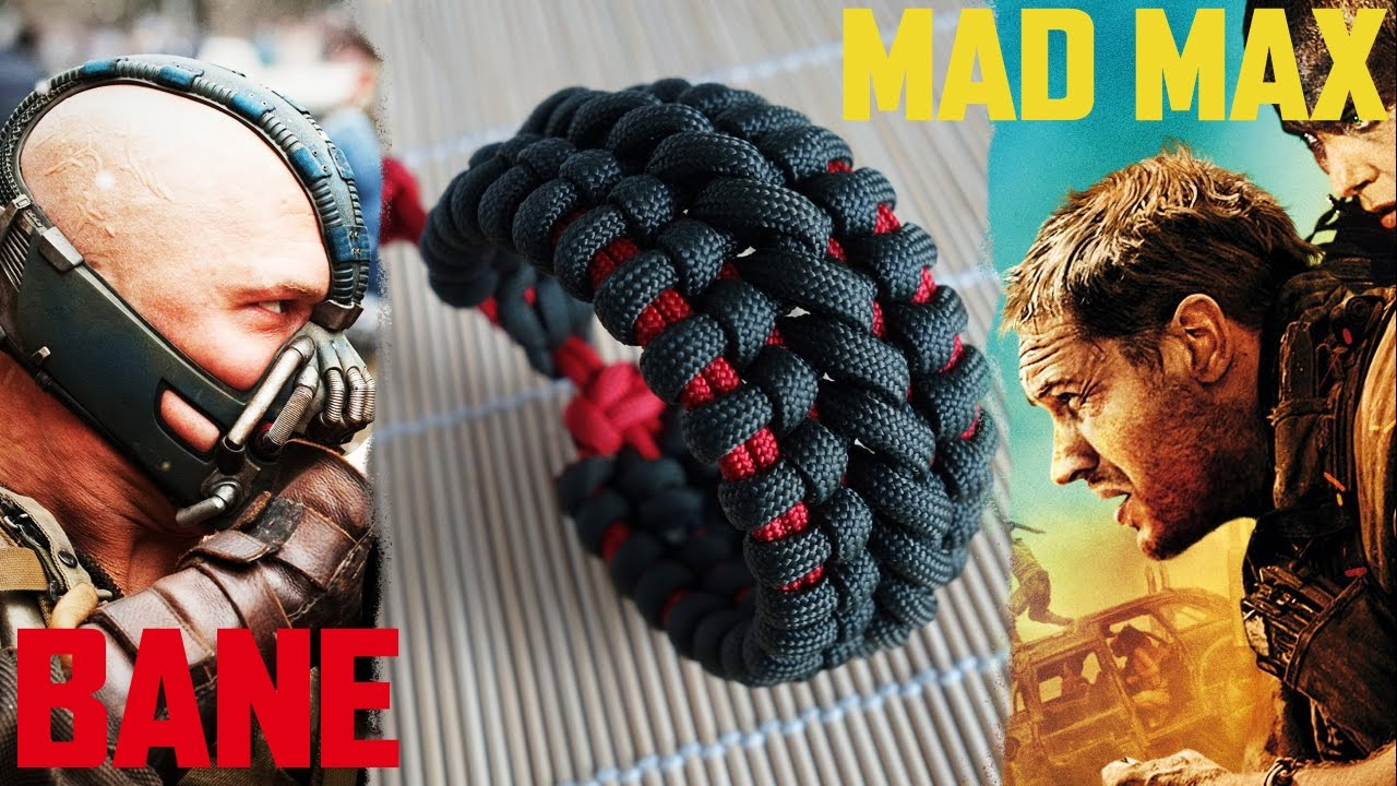 Mad Max Bane S Cuff Paracord Bracelet Tutorial Youtube