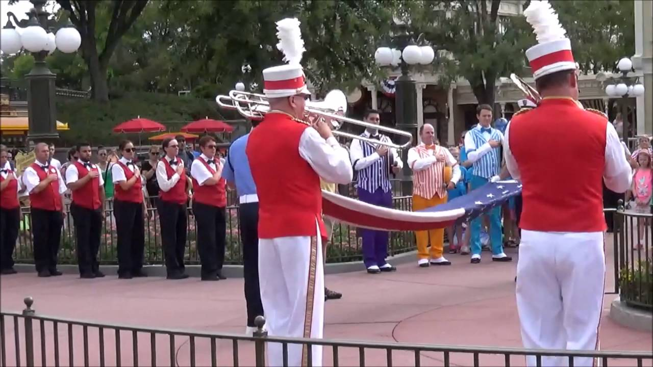 Image result for magic kingdom flag retreat