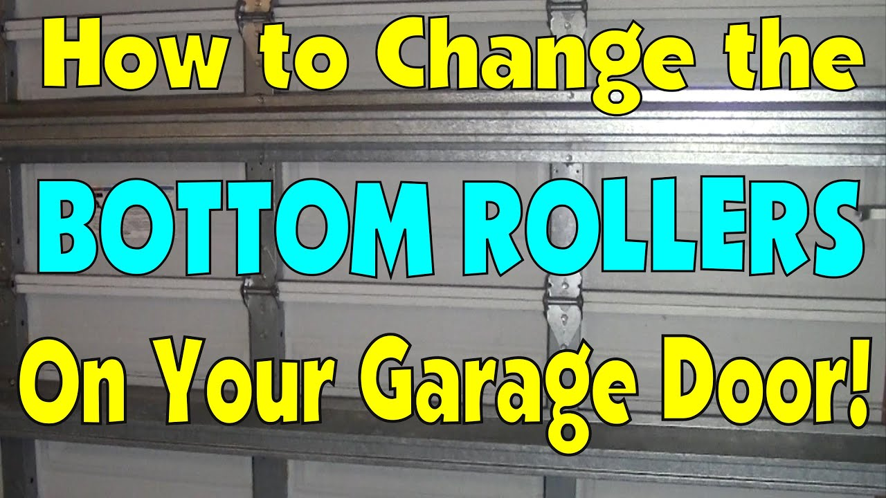 How To Change The Bottom Roller On A Garage Door Diy Fix Repair