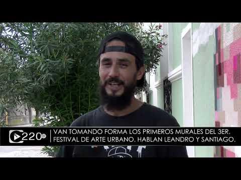 Toman forma los primeros murales del 3er  Festival de Arte Urbano
