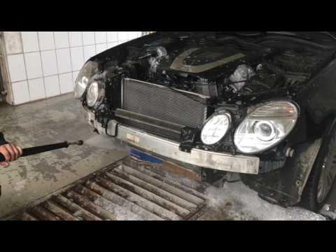 Мойка радиаторов Mercedes W211
