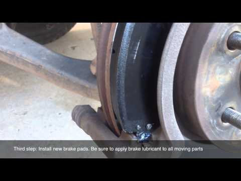 How to change front brake pads on Jeep Liberty KJ