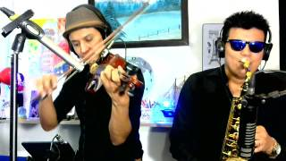Hymn for the weekend (cover violin saxofon) - Tony Mora ft. Marco Melendez