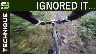 My Bike Crash - Two Causes. Mountain Bike Technique.