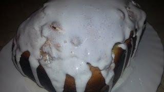 видео Сахарная глазурь для кексов и куличей - пошаговый рецепт с фото