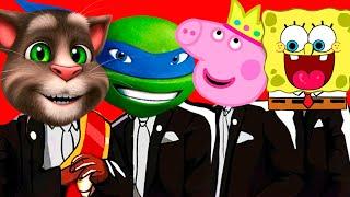 Ninja Turtles & Spongebob & Talking Tom & Peppa Pig - Coffin Dance Song Megamix